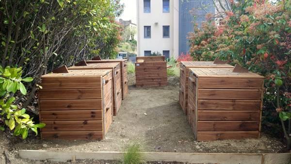 Composteur en bois – En stock